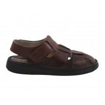 Sandalia piel marrón - Benavente