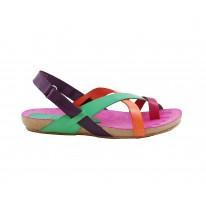 Sandalia plana con tiras YKN