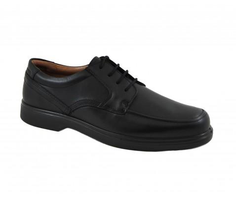 Zapato cómodo blucher piel negro - Benavente
