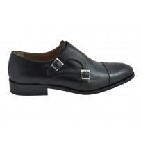 Zapato ceremonia piel hebillas negro - Benavente