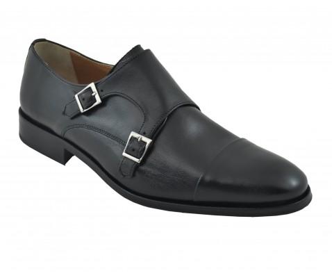 Zapato de vestir con hebillas negro - Benavente