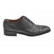 Zapato ceremonia piel picado negro - Benavente