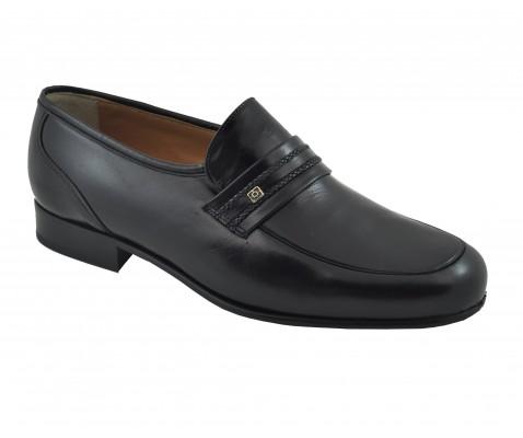 Zapato ceremonia ancho especial piel negro - Benavente