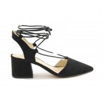 Zapato de salón cuerdas negro - Benavente