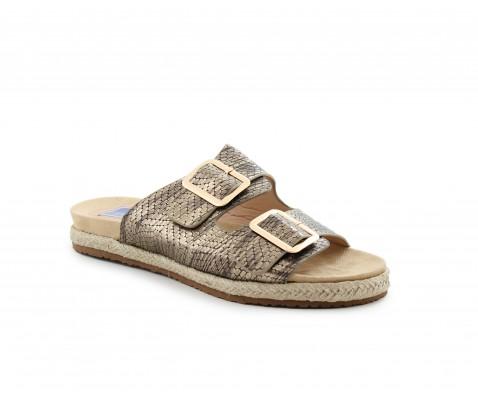 Sandalia plana bronce - Benavente