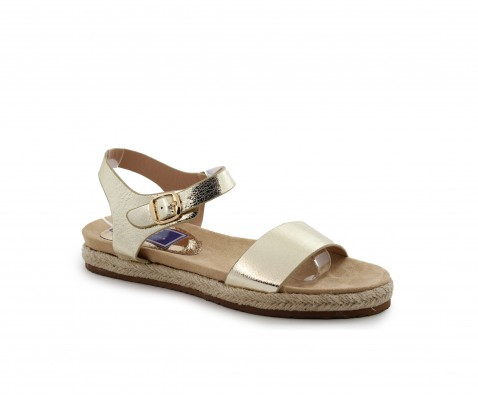 Sandalia plana platino - Benavente