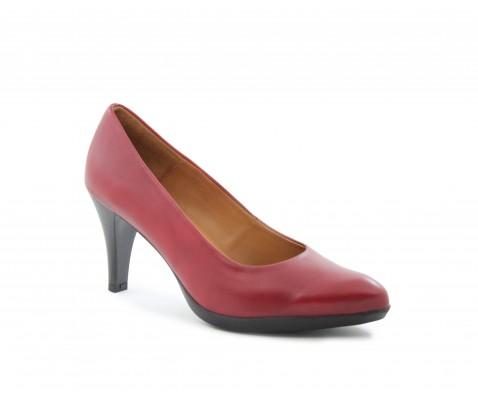 Zapato de salón planta de gel rojo - Benavente