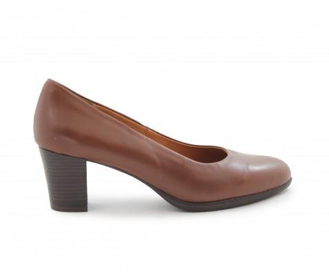 Zapato de salón planta de gel cuero - Benavente