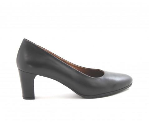 Zapato de salón piel planta de gel negro - Benavente