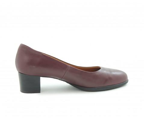 Zapato de salón planta de gel burdeos - Benavente
