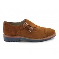 Zapato casual piel hebilla cuero - Benavente