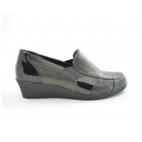 Zapato cómodo cuña baja negro - Benavente