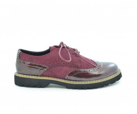 Zapato Buggie negro con cordones - Benavente