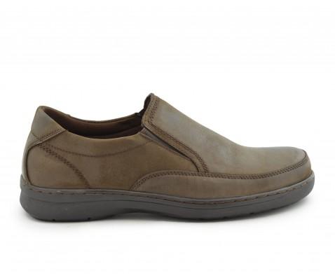 Zapato cómodo piel plantilla extraíble marrón