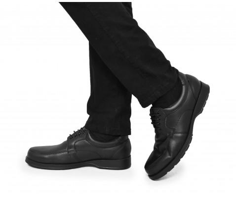 Zapato cómodo piel negro - Benavente