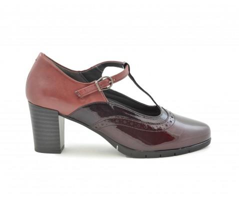 Zapato de salón Pitillos 5285 charol opium burdeos - Pitillos