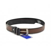 Cinturón piel azul-cuero - Benavente