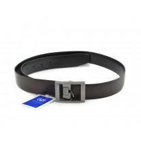 Cinturón piel hebilla cuadrada metálica negro - Benavente