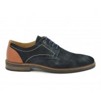 Zapato casual serraje azul marino
