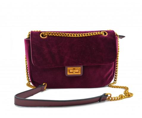 Bolso pequeño terciopelo purpura