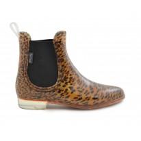 Bota de agua elásticos laterales leopardo