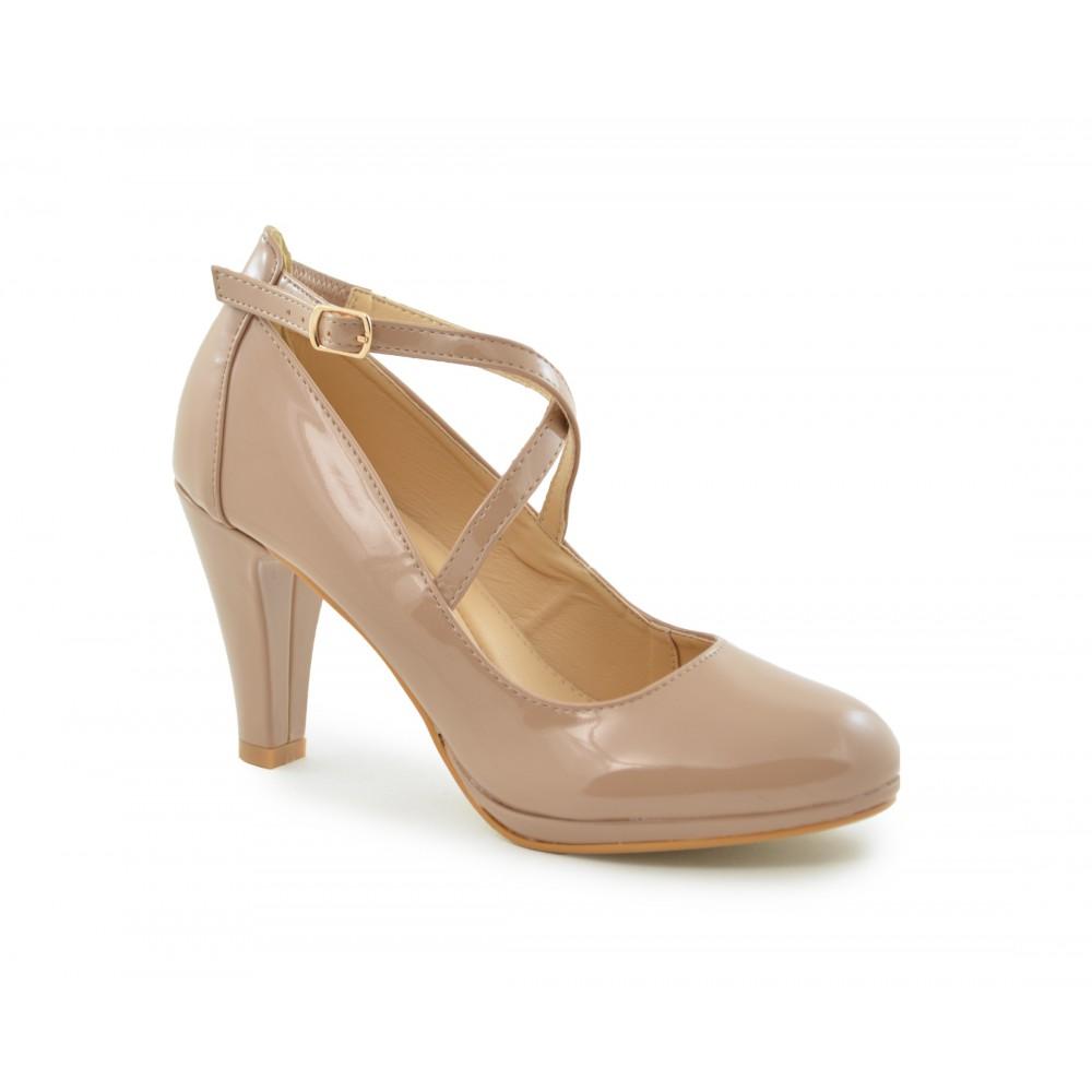 calidad estable zapatos de otoño diseño unico Zapato salón para mujer en color nude de charol