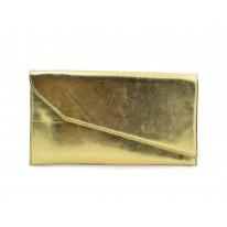 Cartera con solapa metalizada oro - Benavente