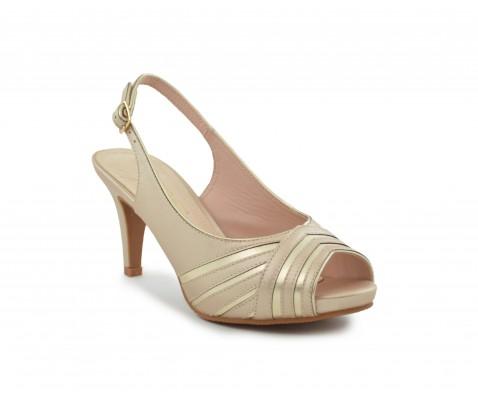 Zapato fiesta nacarado taupe