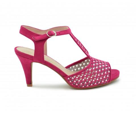 Zapato fiesta espejos fucsia