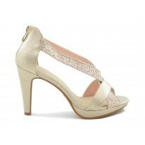 Zapato fiesta glitter tira platino