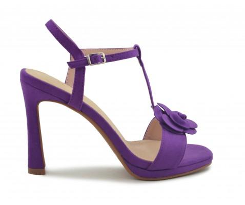 Zapato fiesta flor lila