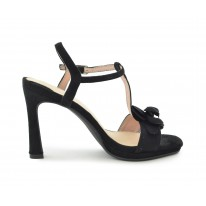 Zapato fiesta flor negro