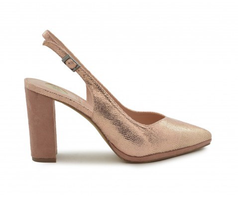 Zapato de fiesta destalonado nude
