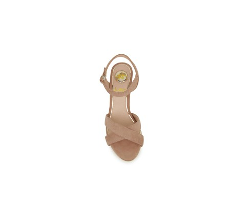 Sandalia de fiesta tacón original nude
