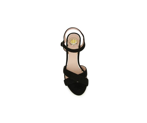Sandalia de fiesta tacón original negro