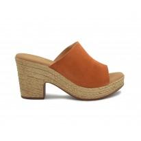 Sandalias con tacón destalonadas roble