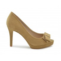 Zapato de vestir lazo camel