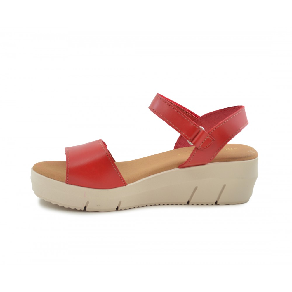 Calzados Roja Benavente Piel Online Sandalia Cuña IvY6gybmf7