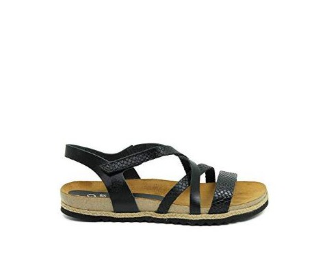 Sandalia piel Yokono Chipre 100 negra - Yokono