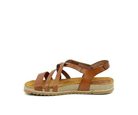Sandalia piel Yokono Chipre 100 nuez - Yokono