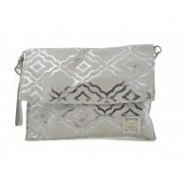 Bolso pequño nature para mujer con combinación en color plata