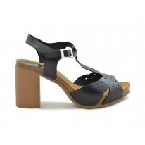 Sandalia piel Yokono Triana 061 negro - Yokono