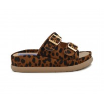 Sandalia doble piso animal print leopardo