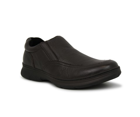 Zapato piel comodo pala marron