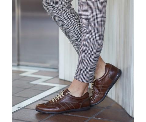 Zapato pelota piel café - Benavente