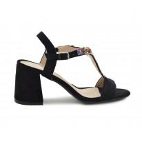 Zapato fiesta piedrecitas colores negro