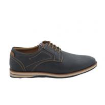 Zapato casual detalles cuero marino