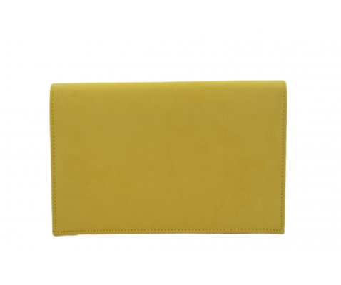 Bolso fiesta ante solapa diagonal amarillo