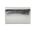 Bolso fiesta metalizado solapa diagonal plata