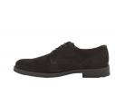Zapato casual cordones serraje marrón